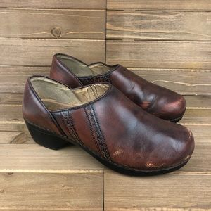 Dansko Sienna Comfort Clog Leather Brown 11